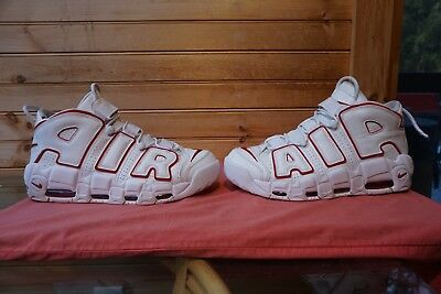 VINTAGE NIKE AIR MUCH Uptempo 1996 Pippen size 11 DEEP RED BLACK ... 0712b02ec