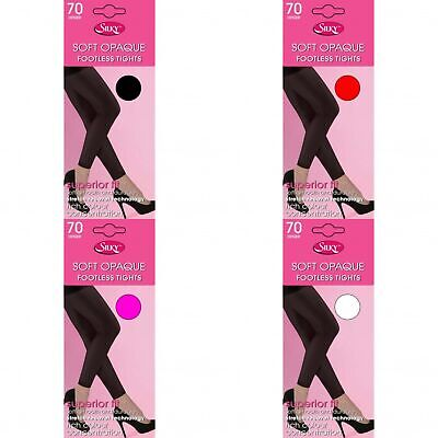 Silky Womens/Ladies Opaque 70 Denier Footless Tights (1 Pair) (LW176)