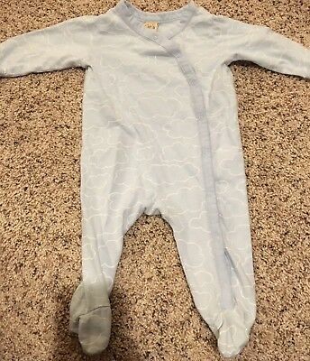 Harper Canyon Newborn Boys Sleeper Pajamas Outfit Blue Clouds