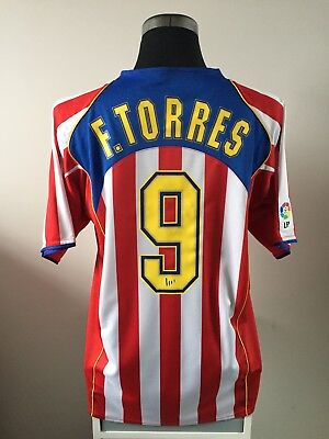 F. TORRES #9 Atletico Madrid Home Football Shirt Jersey 2004/05 (XL)