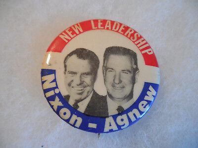 Richard Nixon Pin Back Campaign Button 1968 Presidential President Agnew Badge