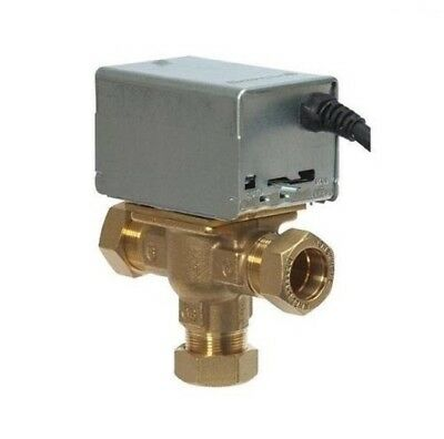 New - Honeywell Central Heating Mid Position 3 Port Valve 5 Wire 22Mm V4073A1039