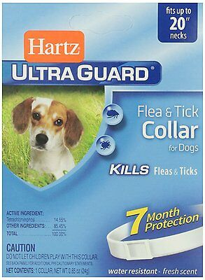 "Hartz Ultra Guard Flea & Tick Collar For Dogs, Fits Up To 20"" Necks, Water R ..."