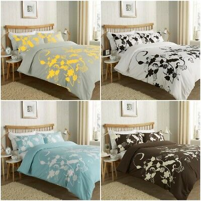 Floral Trail Luxurious Modern Style Duvet Cover Sets Reversible Bedding Sets LW