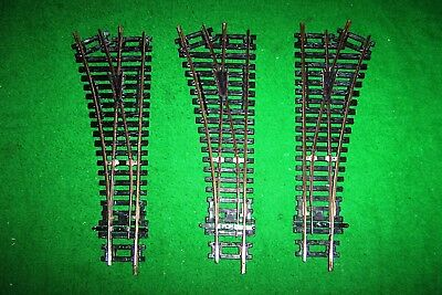 Three Bachmann / Hornby Points 00 gauge, Nickel Silver, made in China.