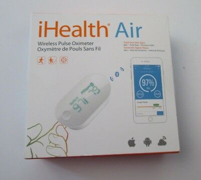 IHealth Air Pulse Oximeter  Measures Blood Oxygen Level & Pulse Apple Android