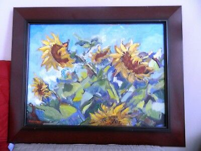"Impressionism Oil Fine Art. Windy day. Original. Ducuron artist 24""x31"". Canvas"