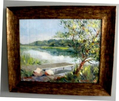 "Impressionism Oil Fine Art. The paradise. Original. Ducuron artist 16""x20""Canvas"