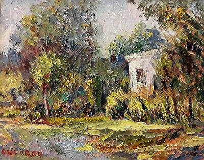 Impressionism Oil Fine Art Light in the green Ducuron  internationa artist11x14