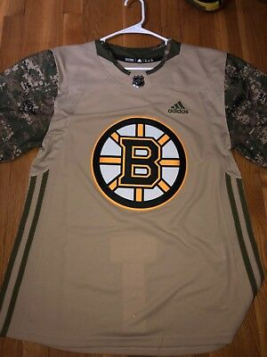 5404b9ed6 BOSTON BRUINS ADIDAS NHL Veterans Day Camo Authentic Jersey Adult ...