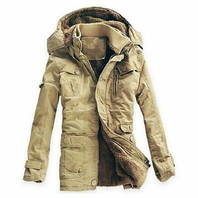 Men's Jacket Outwear Breathable Warm Thickening Casual Cotton Padded Fleece for
