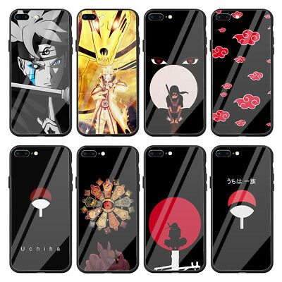 save off 873b4 49928 NARUTO ANIME TEMPERED Glass Case for Apple iPhone Xr X XS Max 8 7 6 6s Plus