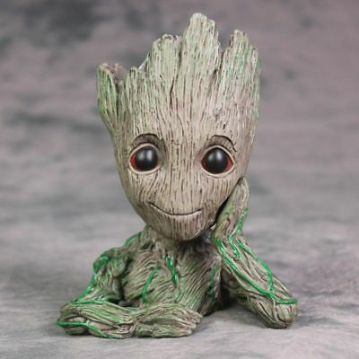 Guardians Of The Galaxy Vol. 2 Baby Groot Flowerpot Pen Pot Figure Gift Toy US