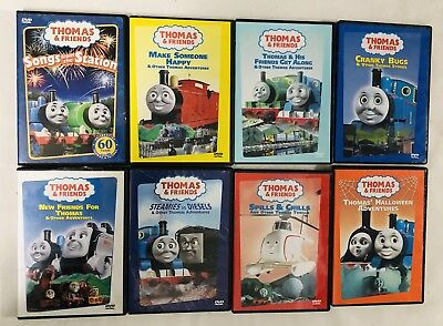Thomas & Friends Dvd Lot Of 8 Movies all different