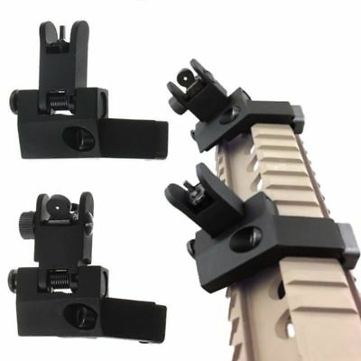 2x Front&Rear Flip Up 45 Degree Offset Rapid Transition Backup Iron Sight Mount