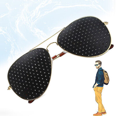 Anti-fatigue Pinhole Glasses Stenopeic Vision Improver Eyesight Care QQQ