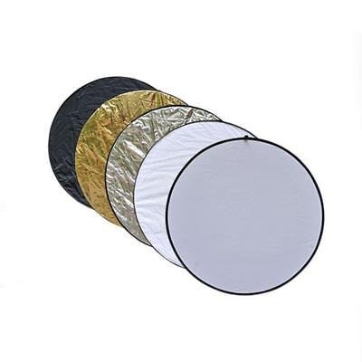 5 in1 60cm Studio Light Photography Collapsible Disc Panel Reflector Diffuser BE
