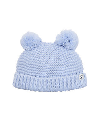 Joules Baby Knitted Pom Pom Hat - Sky Blue