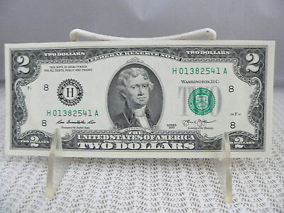 2013 TWO DOLLAR BILLS $2.00 NOTE 10 CONSECUTIVE#-----H01382541A toH01382550A