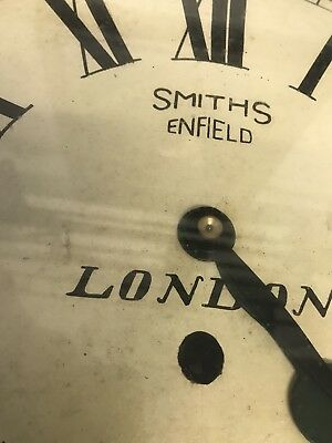"""Antique 16"""" Smiths Railway Station / School Round Dial Wall Clock"""