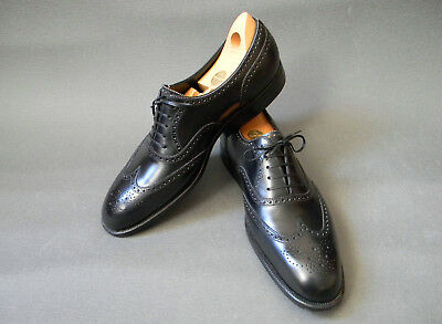 6d338bf6d9f8 Bespoke! Foster   Son by Henry Maxwell Black Wingtip Brogues 11-11.5UK 12