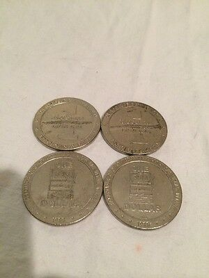 1988 MCCARRAN AIRPORT Slots One 1 $ Dollar Gaming Token Las