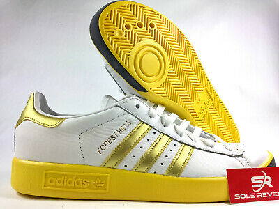 online store deb90 2ef0f NEW adidas Originals FOREST HILLS CQ2083 WHITE, GOLD  EQT YELLOW Shoes s1