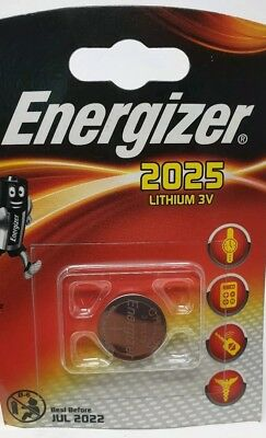 1 X Energizer CR2025 3v Lithium Coin Cell Batteries