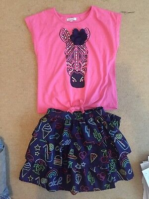 Girls Bluezoo Outfit Top And Skirt Age 10