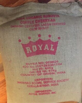 6% OFF SALE 5# India ROBUSTA Cherry CERTIFIED Organic Green Coffee Beans 5 Only