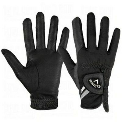 NEW Callaway Thermal Grip Men's Pair of Black Golf Gloves Pick Size & Fit!!