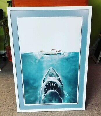 Jaws Screen Print Art Mondo Framed Jason Edmiston Artist Proof 25 of 35 Kastel