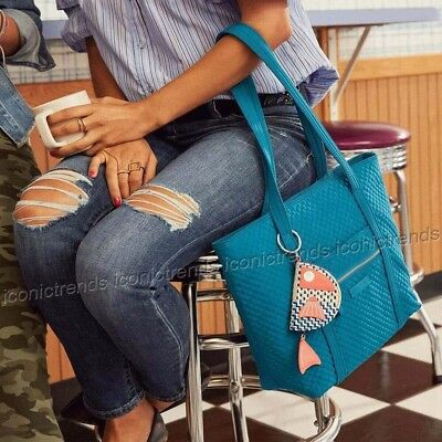 287f5e297b NWT🌺 Vera Bradley Iconic Small Vera Tote Quilted Bahama Bay 22131-J21  Turquoise