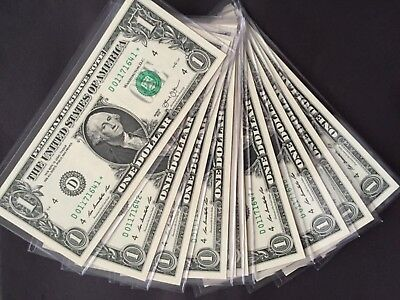 Wow 2013 STAR NOTE $1 Dollar Bills ( 10 Consecutive Cleveland),Uncirculated