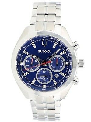 Bulova Sport Chronograph Stainless Steel Mens Watch 96B285