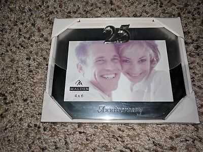 Malden International Designs Wedding 50th Anniversary Two Tone Picture Frame 4x6 Gold//Silver 6576-46