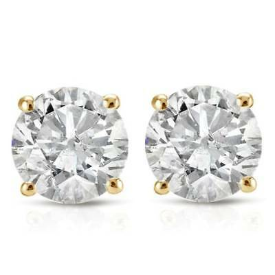 5/8 Cttw Diamond Studs Available In 14K White & Yellow Gold