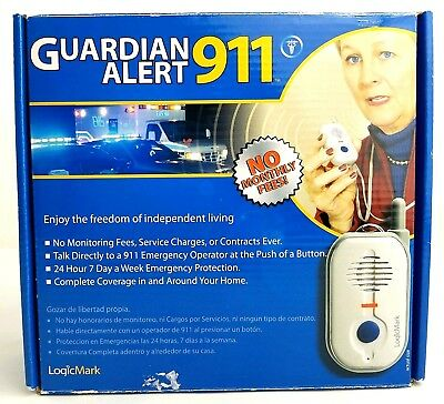 Guardian Alert 911 MEDICAL ALERT Voice Pendant LogicMark 30911
