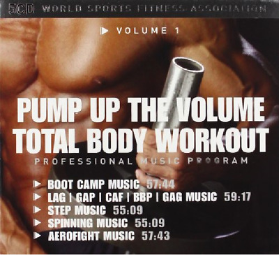 Total Body Workout 1-Pump Up The Volume 5 Cd New!