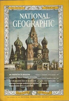 National Geographic Magazine March 1966******* SEE LISTING FOR ADVERTISING******