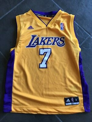 55865164c NBA Lakers Jersey Youth Sz L Large Odom  7 Los Angeles Championship Classic