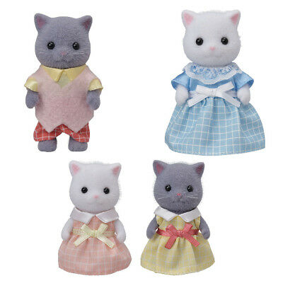 Sylvanian Families PERSIAN CAT FAMILIES GREY GRAY Epoch Japan Calico Critters