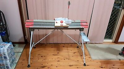 Vintage PASSAP Duomatic knitting machine, Made in Switzerland with stand