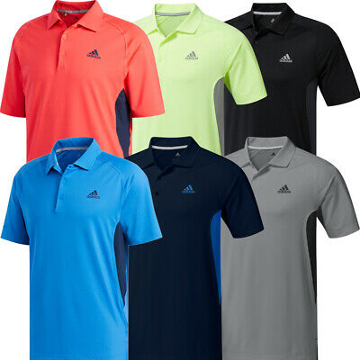 Adidas Golf Mens Ultimate365 Climacool Solid Short Sleeve Polo Shirt