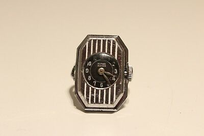 "Vintage Rare Ww2 Era Beautiful  Swiss Ladies Mechanical Watch Ring""extra Anker"""