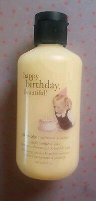 Philosophy Vanilla Birthday Cake Shampoo Shower Gel Bubble Bath 6 Oz Sephora