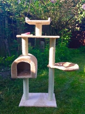 Cat Activity centre - playground - scratch post - Tower with house - BRAND NEW!!