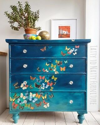 Drawers Sideboard Turquoise Shabby Chic