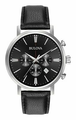 Bulova Men's Quartz Stainless Steel and Leather Casual Watch 96B262