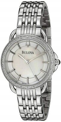Bulova 96R146 Mother-of-Pearl 24 Diamond Dial Stainless Steel Women's Watch